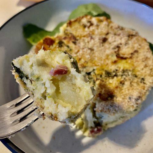 gateau di patate broccoli e spinacini